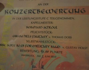 Bezirkswertungsspiel 2012 in Ellbögen